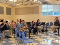 Andy Kolojejchick leads the read through for the band